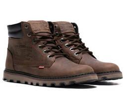 Мужские зимние кожаные ботинки Levis Expensive Chocolate (реплика)