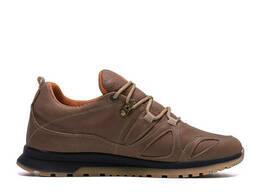 Мужские зимние кожаные кроссовки Merrell vlbram Olive (реплика)