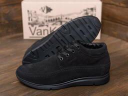 Мужские зимние кожаные кроссовки натуральной замши VanKristi
