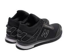 Мужские зимние кожаные кроссовки NB Clasic Black(реплика)