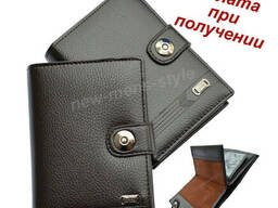 Мужской чоловічий кожаный кошелек портмоне бумажник для. ..