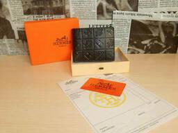 Мужской кошелек, портмоне, бумажник Hermes, кожа, Франция