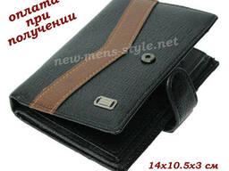 Мужской кожаный кошелек портмоне бумажник обложка для...