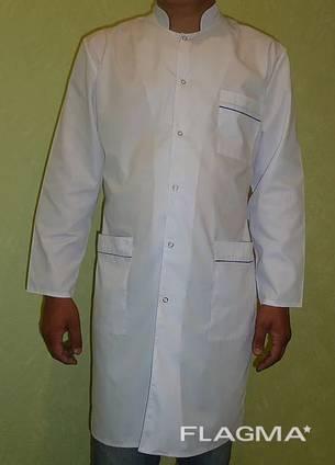 Мужской медицинский халат арт.075, ткань батист