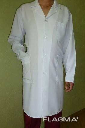 Мужской медицинский халат Класик, ткань габардин