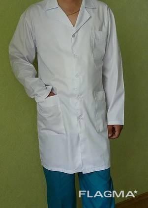 Мужской медицинский халат Класик, ткань котон