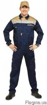 Мужской рабочий костюм, куртка полукомбинезон, спецодежда