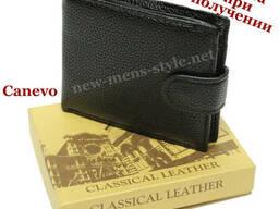 Мужской стильный кожаный кошелек портмоне гаманець Canevo. ..