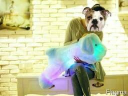 Мягкая светящаяся собака led