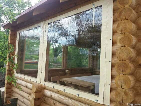 Мягкие окна для веранды, беседки и летнего кафе.