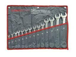 Набір ключів комбінованих 14пр. (10, 12-19, 21, 24, 27, 30, 32мм) на полотні, FK-5141. ..
