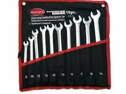 Набір ключів комбінованих подовжених 10пр. (8, 10, 12-19мм) на полотні, RF-5101L Rockforce