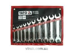 Набір ключів ріжкових YATO М6-27 мм 10 шт