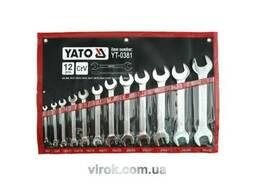 Набір ключів ріжкових YATO М6-32 мм 12 шт
