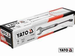 Набір ключів ріжково-накидних кручених 90° YATO 10-32 мм 14 шт