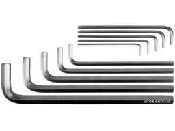 Набір ключів шестигранних Г-подібних YATO М3-17 мм 10 шт