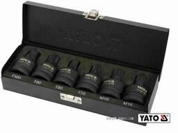 """Набір насадок викруткових ударних TORX і Spline YATO 3/4"""" T70-100 M16 M18 6 шт"""