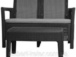 Набір садових меблів зі штучного ротангу Tarifa SOFA + Table графіт (Allibert)