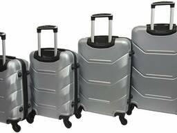 Набір валіз 4 штуки Bonro 2019 срібний (10500202)