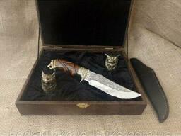 "Набор 2 чарки ""Охотничьи"" с ножом"