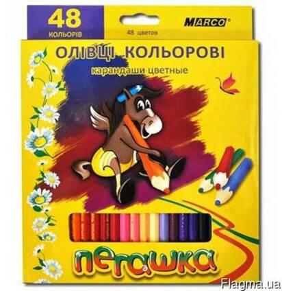 Набор цветных карандашей Пегашка Marco 48 цветов