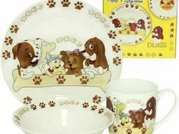 Набор детской посуды 3 пр Песики Snt 5139