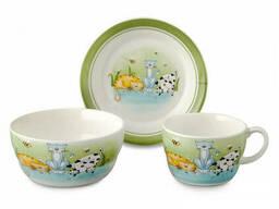 Набор детской посуды Lefard Веселые котята 359-166 3 предмета