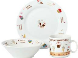 Набор детской посуды Limited Edition Sweet Happiness D150405 3 предмета