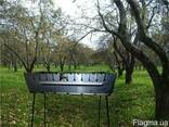 Набор для пикника,Мангал шампура лопатка саперная нержавейка - фото 1