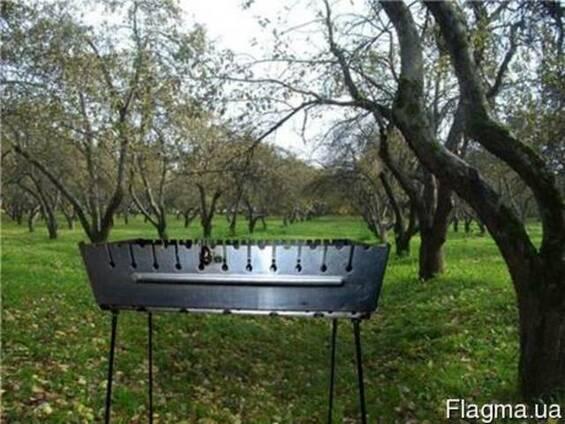 Набор для пикника,Мангал шампура лопатка саперная нержавейка