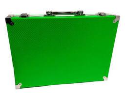 Набор для рисования и творчества MK 2454 с чемоданом, 34.5x25x6 см, зеленый