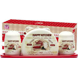 Набор для специй с салфетницей Happy Kitchen Snt 6912-11