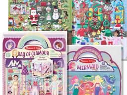 Набор для творчества Melissa Doug, Объемные многоразовые наклейки, детское творчество