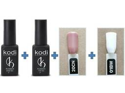 Набор гель лаков для Френча Kodi Professional, База+Топ+. ..