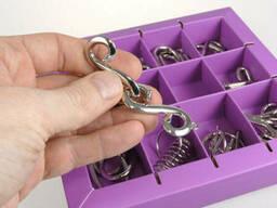 Набор головоломок 10 Metall Puzzles violet Eureka 3D. ..