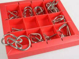 Набор головоломок Eureka 3D Puzzle. 10 Metall Puzzles red. ..