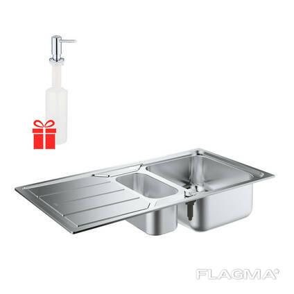 Набор Grohe мойка кухонная K500 31572SD0 + дозатор для моющего средства Contemporary. ..