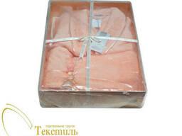 Набор халат и полотенца Soft Cotton INCI, персиковый