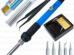 Набор HandsKit 936-S (паяльник с регулировкой + подставка + 5наконечников + припой +. ..