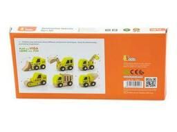 Набор игрушечных машинок Viga Toys Стройтехника, 6 шт. (50541)