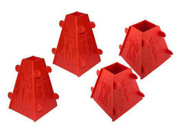 Набор из 4 форм для творожной и сырной пасхи (пасочницы) 2x1.0 кг / 2x0.5 кг