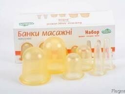 Набор из 6 вакуумных массажных антицеллюлитных чудо банок