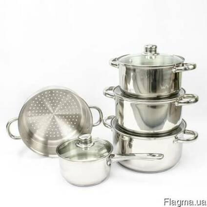 Набор кастрюль для индукционной плиты Giakoma (9 предметов)