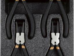 Набор клещей для снятия стопорных колец , 4 предмета T28953