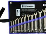 Набор ключей рожково-накидных, Cr-V 11 шт:7, 8, 9, 10. .. - фото 1
