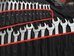 Набор ключей рожково-накидных в чехле 6-32 мм 26 ед. .. .