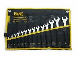 Набор ключей рожково-накидных в чехле CrV 6-24мм (14 шт. ). ..