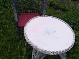 Набор мебели из ротанга 3 стула и стол