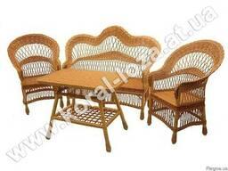 """Набор плетеной мебели из лозы """"Капля"""" Арт.1218 - фото 1"""
