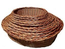 """Набор плетеных корзин из лозы для животных """"овальный лежак"""